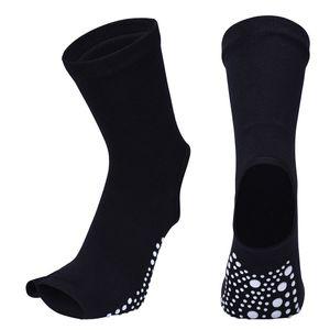 Atmungsaktive Yoga Socken Pilates Ballet Gym Socken Fitness Rutschfeste Toeless 21cm Schwarz Fingerlos Yoga-Socken Gel-Silikon