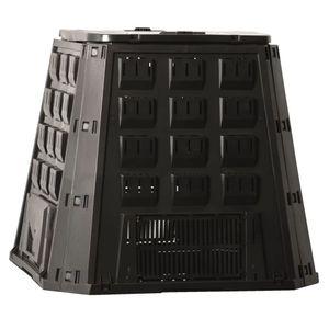 Kompostbehälter Thermokomposter Schnellkomposter Schwarz 400 L 6071480