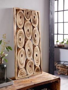 Wanddeko 'Geflammt' Holz naturbelassen Unikat Deko,naurbelassene Wand Dekoration