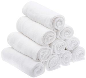 10er Pack Mullwindeln  Baby Spucktücher Mulltücher 70x80 80x80 Baumwolle  Weiß 10 80x80 cm