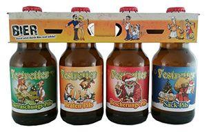 Weihnachts Pils Festretter Weihnachtsbier im witzigen Bierschaum 4er Träger (9,08 EUR / l)