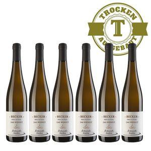 Weißwein Rheinhessen Scheurebe Weingut Becker trocken ( 6 x 0,75 l)