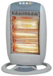 Zilan Heizstrahler | Heizgerät | Terrassenstrahler | Mini Heizung | Elektroheizung | 3 Heizstufen | Überhitzungsschutz | Oszillierend | 1200 Watt | Umstoßsicherung | …