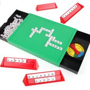 Puzzle Lernen Englisch Spielzeug Englisch Alphabet Scrabble Spiel Zauberwortspiel