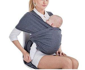 Tragetuch Baby elastisch für Neugeborene und Kleinkinder, Babytragetuch Kindertragetuch Baby Bauchtrage Sling Tragetuch für Baby Neugeborene Innerhalb 16 KG (Dunkelgrau)