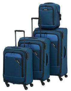 Travelite Derby Kofferset 4-tlg. blau 87540-20 Koffer mit 4 Rollen Kofferset