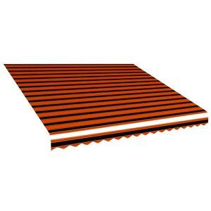 Markisenbespannung ,Balkonmarkise ,Sonnenschutz für Terrasse Canvas Orange & Braun 400 x 300 cm