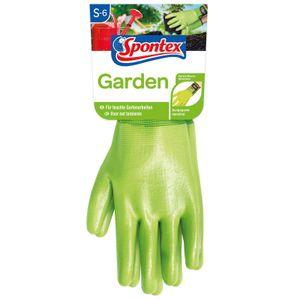 Spontex Gartenhandschuhe Garden, Damenhandschuh, für feuchte Gartenarbeit, Nitril, Klettverschluss Größe:7