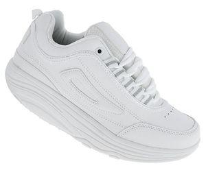 Fitnessschuhe Sport Schuhe 14 Farben Gesundheitsschuhe Damen Herren Sneaker 092, Schuhgröße:39, Farbe:Weiß