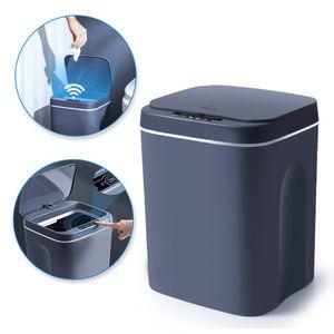 Intelligenter automatischer Mülleimer mit Sensortyp, geräuscharm, geeignet für Küche, Schlafzimmer, Bad dunkelgraues 12L