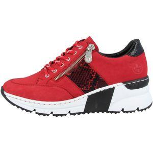 Rieker Damen Sneaker Rot , Schuhgröße:EUR 40