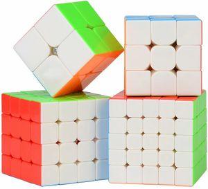 Würfel Set, Zauberwürfel Set Pyramid Smooth Puzzle Würfel (2x2 3x3 4x4 5x5)
