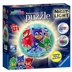 3D Puzzle Ball mit Nachtlicht | Ravensburger | Pyjamahelden  | PJ Masks