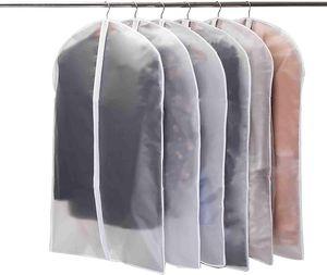 Kleidersäcke mit Reißverschluss, 6 Stück Atmungsaktive Kleiderhülle- 100cm Kleiderschutz Mottensicher- Durchscheinend Anzugsack für Lange Kleider, Abendkleid, Smoking Anzüge Mäntel Herren, Schutz