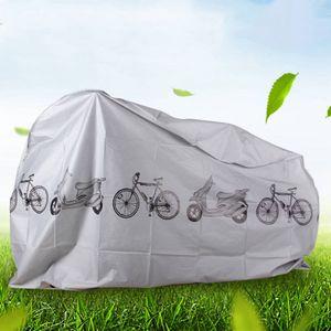 Universelle wasserdichte Fahrrad Fahrradabdeckung Outdoor Wetter Regen,Grau