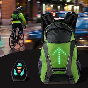 Lixada 18L Fahrradtaschen Fahrradrucksack LED Blinker Licht Reflektierende Tasche Packung Outdoor Sicherheit Nacht Reiten Laufen Rucksack