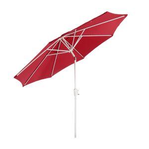 Sonnenschirm N19, Gartenschirm, Ø 3m neigbar Polyester/Alu 5kg  rot