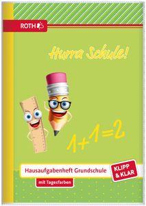 "ROTH Grundschul-Hausaufgabenheft Klipp & Klar DIN A5 ""Hurra Schule"""