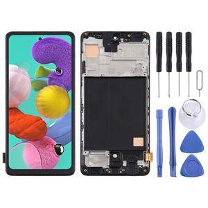 Für Samsung Galaxy A51 A515F Display Full TFT LCD mit Rahmen Einheit Touch Ersatzteil Reparatur Schwarz