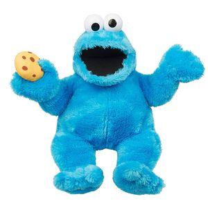 Sesamstraße Plüsch Krümelmonster mit Sound (37cm) Handpuppe Cookie Monster