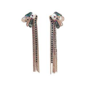 Mllaid Frauen Ohrringe Frauen Quaste Ohrringe lange Kette Anhänger Ohrringe