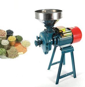 1500w 220v Elektrische Mühle Trockenschleifmaschine Getreidemühle Mahlmaschine Futtermühle Trichter Elektrisch Trockenmühle Schrotmühle Kornmühle für Mais Weizen Reis