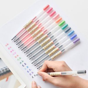 12 Stück Bunter Gelstift 0,5 mm Farbe Muji Style Stifte Set 15*13*3cm