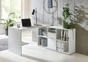BMG Möbel Eckschreibtisch »Lena« (mit abschließbarer Tür, Computertisch, Winkelschreibtisch, Homeoffice, Bürotisch),  Germany
