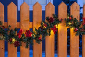Merxx Girlande 5 m, 80er LED Lichterkette, dekoriert, rot, außen, 86105-12