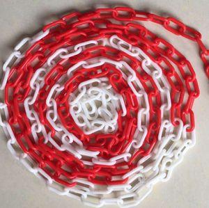 10 Meter Kette Absperrkette Rot / Weiß Kunststoffkette Warnkette Sicherheitsabsperrung