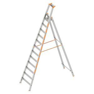Layher Topic 1064 Stufenstehleiter 12 Stufen