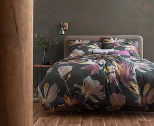 Estella Mako Interlock Jersey Bettwäsche 2 teilig Bettbezug 155 x 220 cm Kopfkissenbezug 80 x 80 cm Kimi graphit