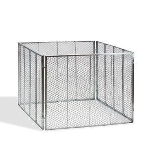 Metallkomposter 106x106x81 cm vollverzinkt Drahtkomposter Komposter Stahl Garten