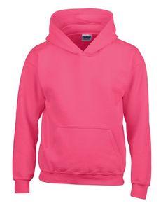 Gildan Uni Hoodie Heavy Blend™ Youth Hooded Sweatshirt 18500B Rosa Heliconia L (164)