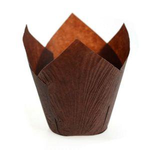 200x Barabum Backförmchen aus Papier förmchen in Tulpenform für Cupcakes Muffins