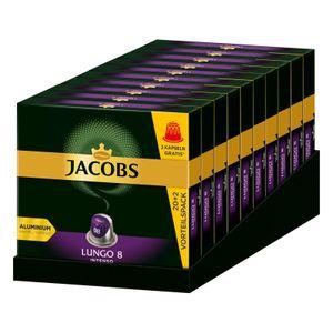 JACOBS Kapseln Lungo 8 Intenso 10 x 20+2 Nespresso®* kompatible Kaffeekapseln