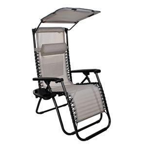 Sonnenliege Gartenliege klappbar mit Sonnenschutz bis 120 kg belastbar 10060