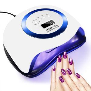 Speed 168W Nageltrockner LED UV Lampe Profi Lichthärtungsgerät Nagellacktrockner Gel Dryer mit 4 Timer DE,Blau