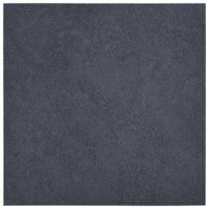 vidaXL Laminat Dielen Selbstklebend 5,11 m² PVC Schwarzer Marmor