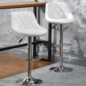Barhocker Set Barstuhl Kunstleder Design Barstühle Bar Hocker Stühle Weiß
