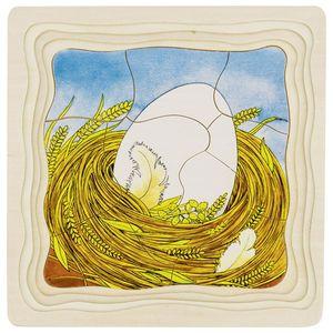 Schichtenpuzzle Das Huhn, per St