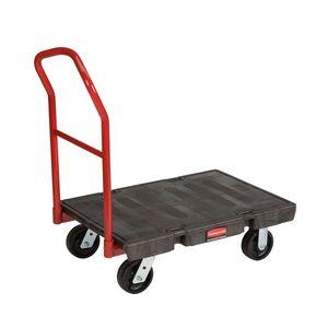 Plattformwagen für schwere Lasten, Rubbermaid Schwarz, Rot