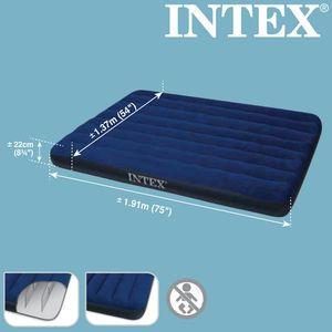 INTEX 68758 Luftbett Doppel Classic Downy Blue Full 191 x 137 x 22cm