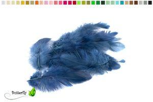 Bastelfedern 5-10cm, ca. 80-100 Stück, Farbauswahl:dunkelblau / navy 370