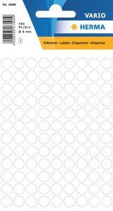 HERMA Markierungspunkte Durchmesser: 8 mm weiß 540 Stück