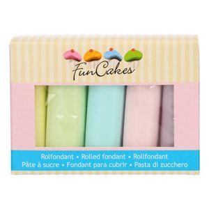 FunCakes Fondant Multipack Pastel Colours 5 x 100 g Rollfondant