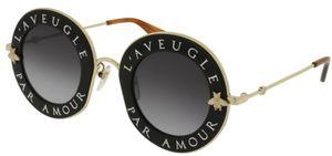 Gucci Sonnenbrille Blind for Love GG0113S-001 Schwarz/Gold