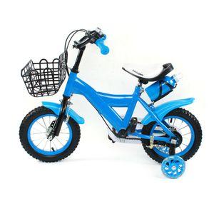 Kinderfahrrad 12 Zoll Fahrrad für Kinder Junge Mädchen Kinderrad Unisex Kinderrad Mit Vorne Hinten Bremse und Stützräder Blau