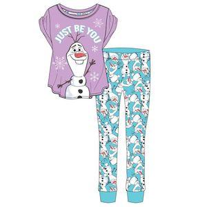 Frozen Damen Schlafanzug mit Olaf-Motiv 575 (38/40 DE) (Violett/Blau)