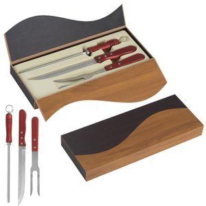 Tranchierbesteck / bestehend aus Fleischmesser, Fleischgabel und Schärfer